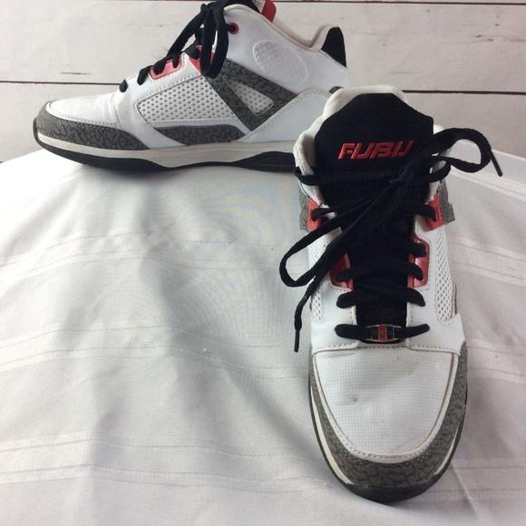 78fde129b43181 FUBU Other - Fubu Mens High Top Basketball Shoes White Gray